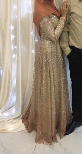 Abendkleid Gold S