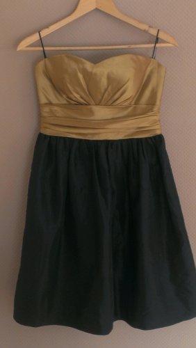 Abendkleid Gold-Schwarz