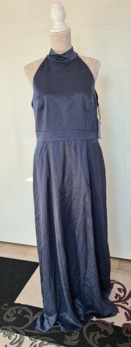 Abendkleid - graphite blau - Größe 42 XL - Maxi - Neckholder