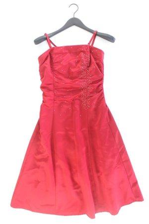 Abendkleid Größe 36 Träger rot aus Polyester