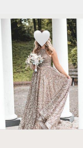 Abendkleid Avondjurk brons-lichtbruin