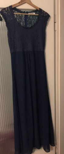 Abendkleid in A-Linie dunkelblau