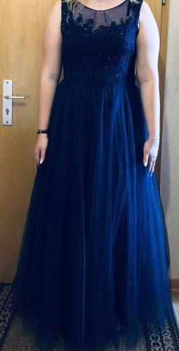 Abendkleid in dunkelblau Größe 46