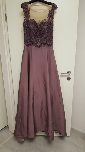 Abendkleid in Lila/Braun