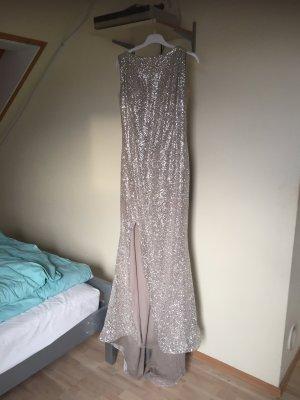 Abendkleid in Silber mit Glitzer