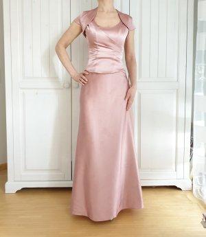 Abendkleid Kleid 34 Fokus Hochzeitkleid Rose Rosa Pink Korsett Korset Rock Bolero Bollero
