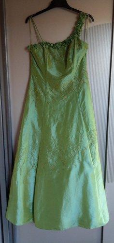 Abendkleid Kleid grün Blumen Pailletten Grand Soir