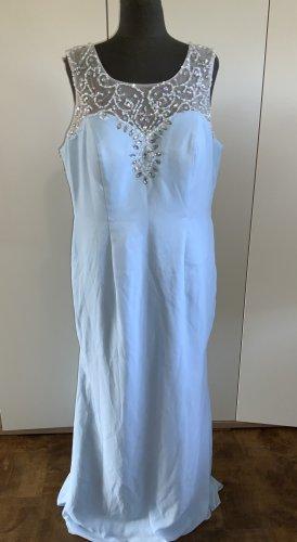 Abendkleid Kleid MAxikleid 46 XXL hellblau mit Pailietten