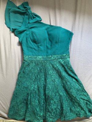 Robe de bal vert foncé-gris vert