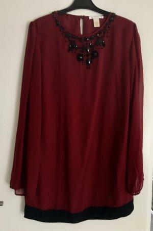 Gold Hawk Evening Dress carmine-black silk