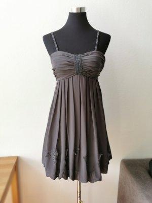 Abendkleid Laona Grau Glitzer Größe 34
