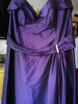 Abendkleid Lila, Größe 48 Neckholder