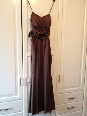 Abendkleid, matt-glänzendes rostbraun