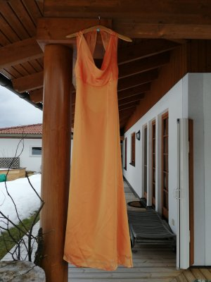 Abendkleid metallic orange