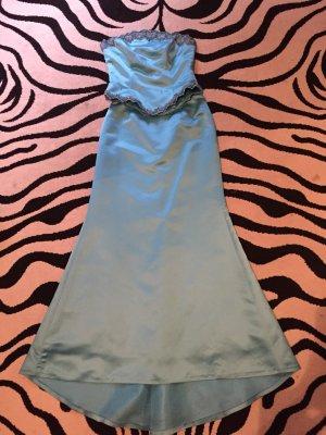 Corsage Dress light blue polyester