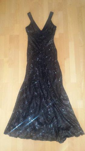 Abendkleid mit Pailetten in schwarz von Jenny Packham