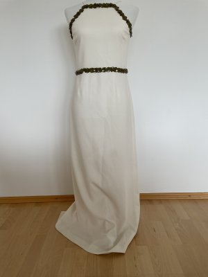 Tory Burch Evening Dress natural white-dark green