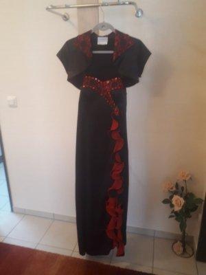 Bader Robe de soirée noir-rouge foncé