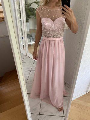 Abendkleid mit Zierperlenbesatz - Rosé 34