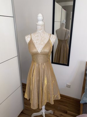 Abendkleid Obligat Gold Glitzer