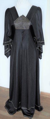 Abendkleid oder Motto-Kostüm? Gr. 36 / 38 schwarz-gold, lang, Flügelärmel