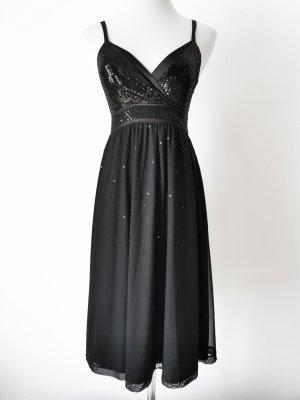 Abendkleid Pailletten schwarz