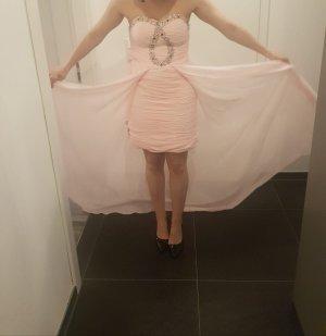 Vestito vokuhila color oro rosa-rosa chiaro