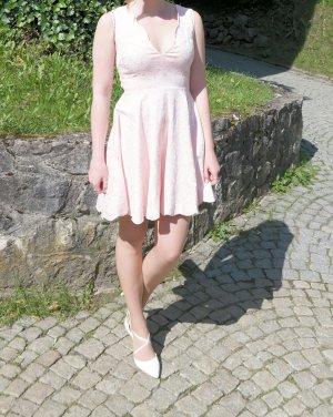 Abendkleid rosa Brokat nelly Größe 36