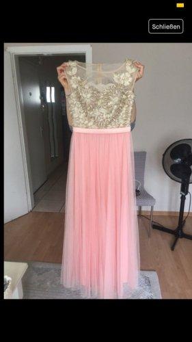 Abendkleid rosa gold Spitze