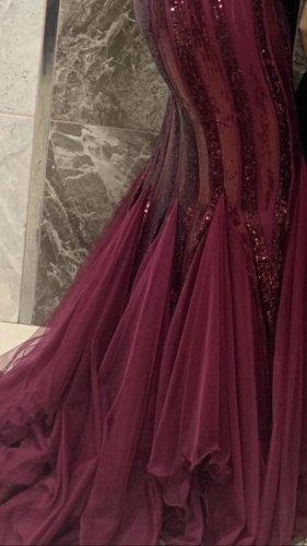 Abendkleid rot/Glitzer