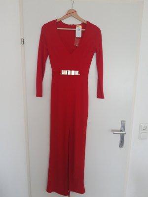 Abendkleid rot mit Schlitz