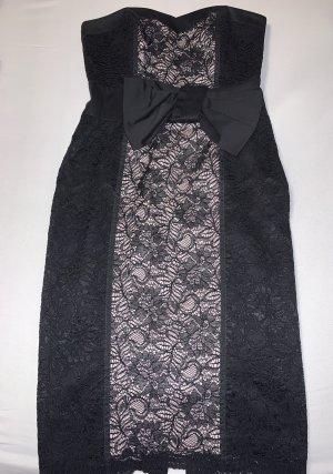 Abendkleid Schwarz/Creme