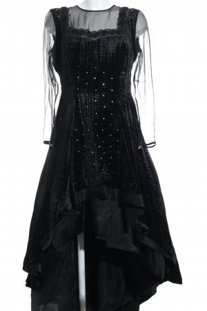 Abendkleid schwarz florales Muster Elegant