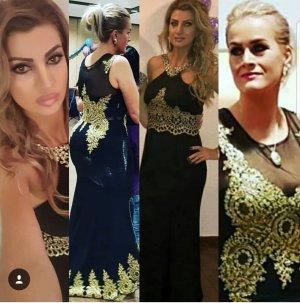Abendkleid Schwarz Gold in gr. 42