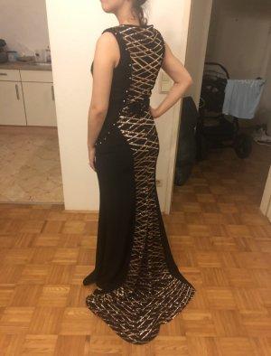 Abendkleid Schwarz Gold mit Paietten
