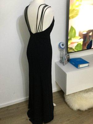 Abendkleid schwarz maxikleid bequem Schlitz neu