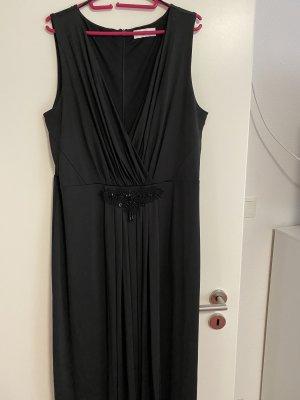 Abendkleid schwarz mit Applikation
