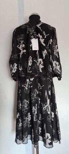 Abendkleid Schwarz mit Blumen Gr. 48 von Sheego