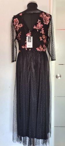 Abendkleid schwarz mit Pailletten Gr. 44 von Sheego