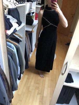 Abendkleid schwarz samt