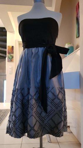 Abendkleid schwarz/silber in Größe M