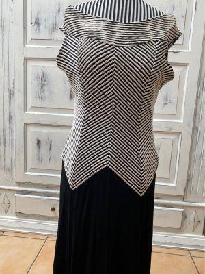 Abendkleid schwarz weiß