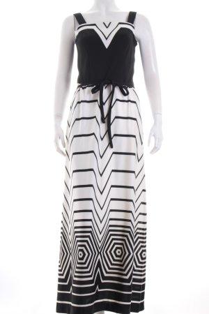 Abendkleid schwarz-weiß Casual-Look