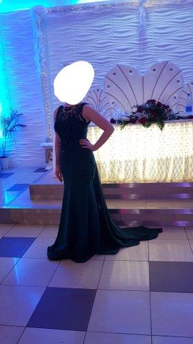 Abendkleid smaragdgrün - nur einmal getragen!