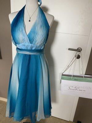 Yves Calin Szyfonowa sukienka Wielokolorowy