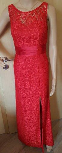 Abendkleid Spitze rot 36