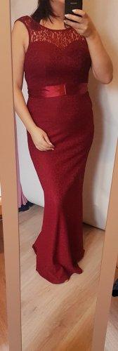 Abendkleid Spitze rot Burgund dunkel rot 38