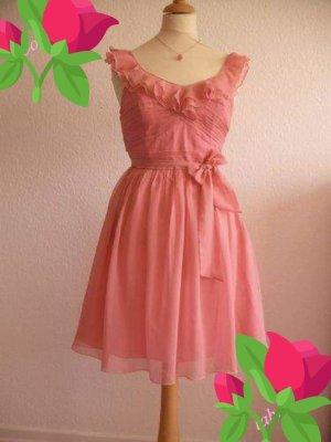 Lipsy Chiffon Dress pink