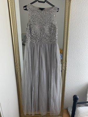 Zalando Evening Dress light grey-silver-colored