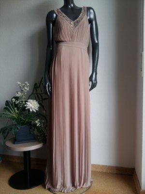 Abendkleid von TFNC Gr. 36 taupe